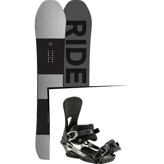 Set: Ride Timeless 2017 + Nitro Machine 2017, black - Snowboardset
