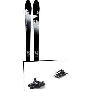 Set: Icelantic Sabre 89 2018 + Marker Alpinist 12 Long Travel black/titanium