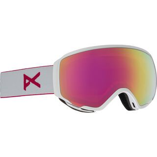 Anon WM1 inkl. Wechselscheibe, pearl white/Lens: pink sq - Skibrille