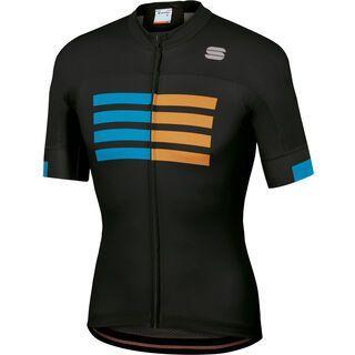 Sportful Wire Jersey, black/blue/gold - Radtrikot
