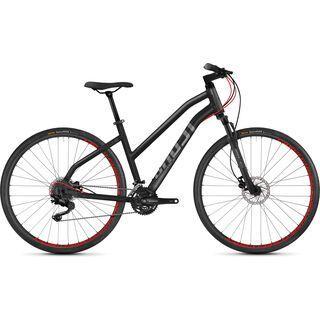 Ghost Square Cross 4.8 W AL 2018, gray/neon red - Fitnessbike