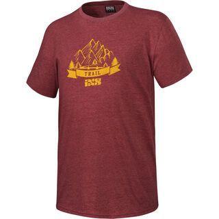 IXS Trail Tee 6.1 T-Shirt, night red - T-Shirt