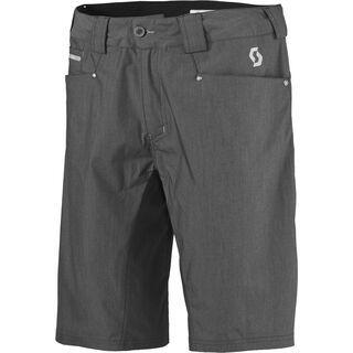 Scott Demin Shorts, dark grey stretch denim