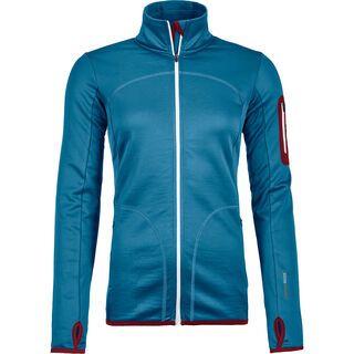 Ortovox Merino Fleece Jacket W, blue sea - Fleecejacke