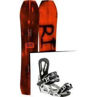 Set: Ride Warpig Large 2017 + Nitro Pusher 2017, ice camo - Snowboardset