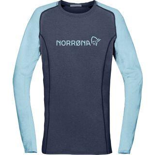 Norrona fjørå equaliser lightweight Long sleeve (W), indigo night - Radtrikot