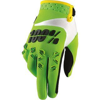 100% Airmatic Youth, lime - Fahrradhandschuhe