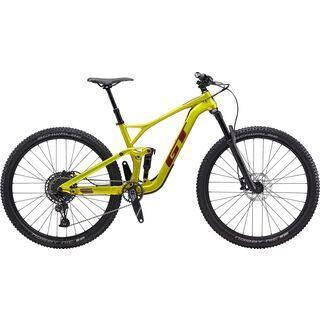 GT Sensor Carbon Elite 2020, limegold/burgundy - Mountainbike