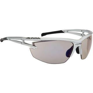 Alpina Alpina Eye-5 HR VLM+, silver black/Lens: varioflex+ mirror blue - Sportbrille
