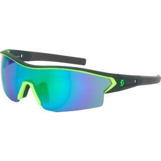 Scott Leap Sunglasses + Wechselscheibe, black matt/neon green/Lens: green chrome - Sportbrille