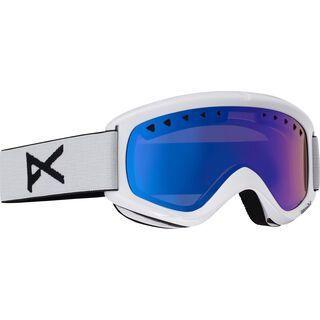 Anon Helix + Spare Lens, white/blue solex - Skibrille