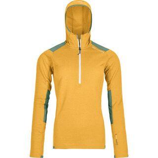 Ortovox Merino Fleece Light Grid Zip Neck Hoody W, yellowstone - Fleecehoody