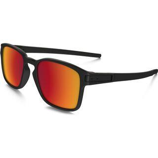 Oakley Latch Square, matte black/Lens: torch iridium - Sonnenbrille