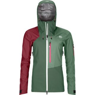 Ortovox 3L Merino Naked Sheep Ortler Jacket W green forest