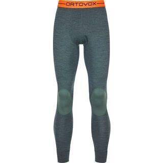 Ortovox 185 Merino Rock'n'Wool Long Pants M, green forest blend - Unterhose