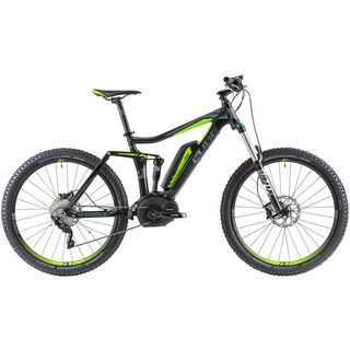 Cube Stereo Hybrid 140 Pro 27.5 2014, black/grey/green - E-Bike