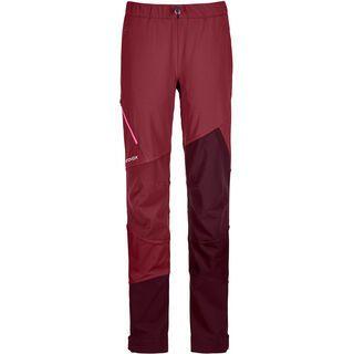 Ortovox Merino Naturtec Light Col Becchei Pants W, dark blood - Skihose