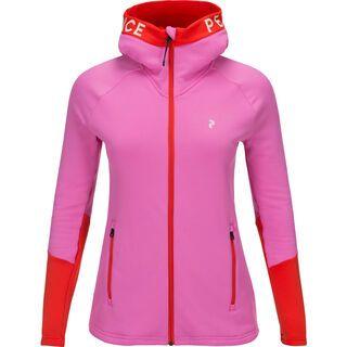 Peak Performance W Rider Zip Hood, vibrant pink - Fleecejacke