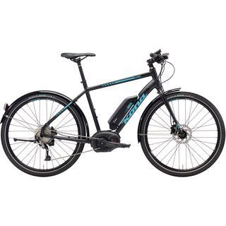 Kona Dew-E 2018, black/aqua - E-Bike