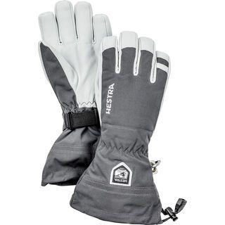 Hestra Army Leather Heli Ski 5 Finger, grey - Skihandschuhe