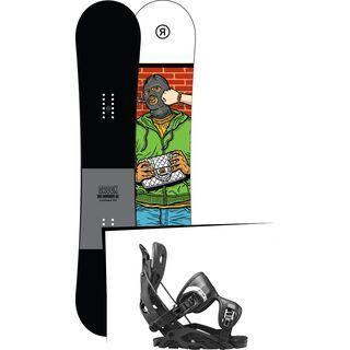 Set: Ride Crook 2017 + Flow Fuse 2017, black - Snowboardset