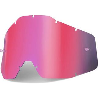 100% Racecraft/Accuri/Strata Replacement Lens, pink mirror/smoke