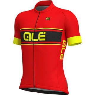 Ale Vetta Jersey, red-fluo yellow - Radtrikot
