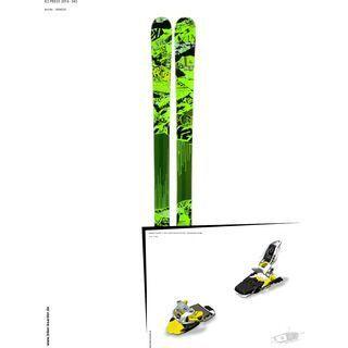 K2 SKI Set: Press 2014 + Marker Squire 11