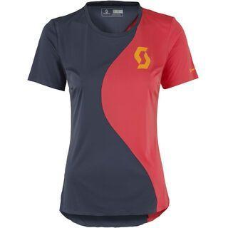 Scott Womens Trail Tech s/sl Shirt, blue/pink - Radtrikot