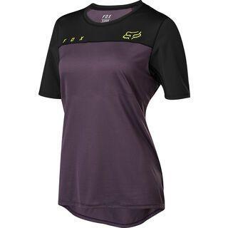 Fox Womens Flexair SS Jersey, dark purple - Radtrikot