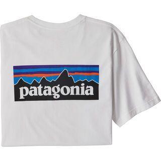 Patagonia Men's P-6 Logo Responsibili-Tee white
