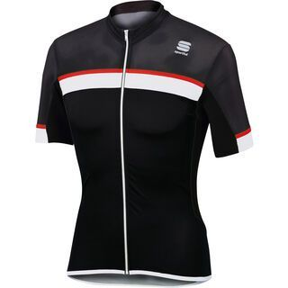 Sportful Pista Jersey, black/white/red - Radtrikot
