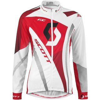 Scott Womens RC Light l/sl Shirt, white/red - Radtrikot