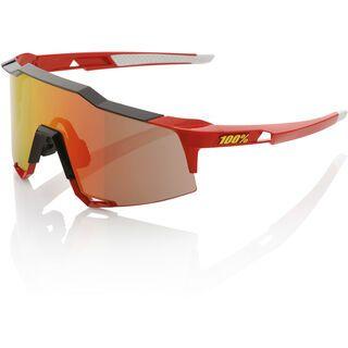 100% Speedcraft, red/Lens: mirror - Sportbrille