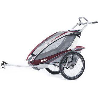 Thule Chariot CX 1 inkl. Fahrrad-Set, burgundy - Fahrradanhänger