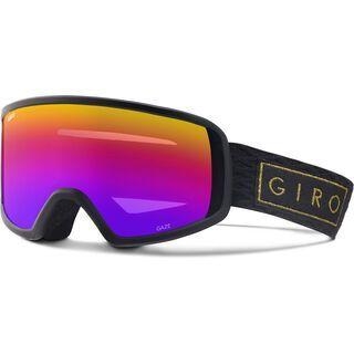 Giro Gaze, black/gold bar/Lens: rose spectrum - Skibrille
