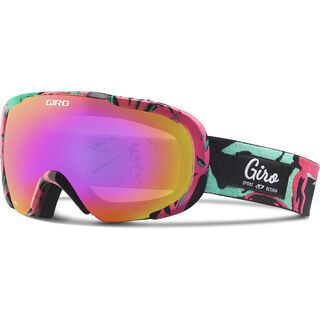 Giro Field, bright coral poppy/amber pink - Skibrille
