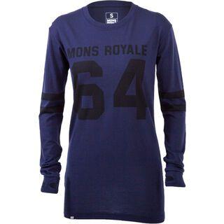 Mons Royale Boyfriend LS, navy - Funktionsshirt