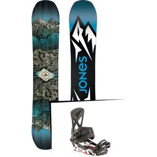 Set: Jones Mountain Twin Wide 2019 + Nitro Phantom Carver carver