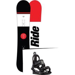 Set: Ride Agenda Wide 2017 + K2 Cinch CTC 2017, black - Snowboardset