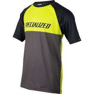 Specialized Kids' Enduro Grom Jersey, hyper green/charcoal block - Radtrikot