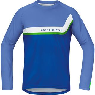 Gore Bike Wear Power Trail Jersey Lang, blizzard blue - Radtrikot