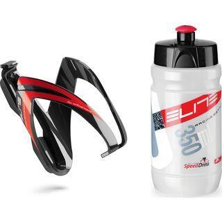 Elite Kit Corsetta/Ceo, schwarz/rot/clear - Flaschenhalter