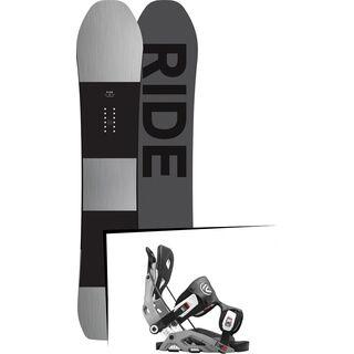 Set: Ride Timeless 2017 + Flow Fuse 2016, grey - Snowboardset