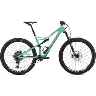 Specialized Stumpjumper FSR Expert Carbon 29/6Fattie 2018, mint/kiwi/pink - Mountainbike