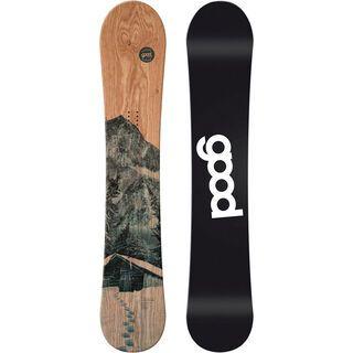 goodboards Wooden Camber X-Wide 2017, esche blau - Snowboard