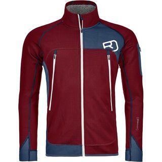 Ortovox Merino Fleece Plus Jacket M, dark blood - Fleecejacke