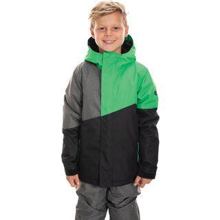 686 Boys' Cross Insulated Jacket, hex green colorblock - Snowboardjacke