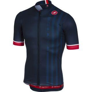 Castelli Podio Doppio Jersey FZ, dark infinity blue - Radtrikot