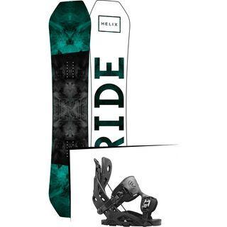 Set: Ride Helix 2017 + Flow Fuse 2016, black - Snowboardset